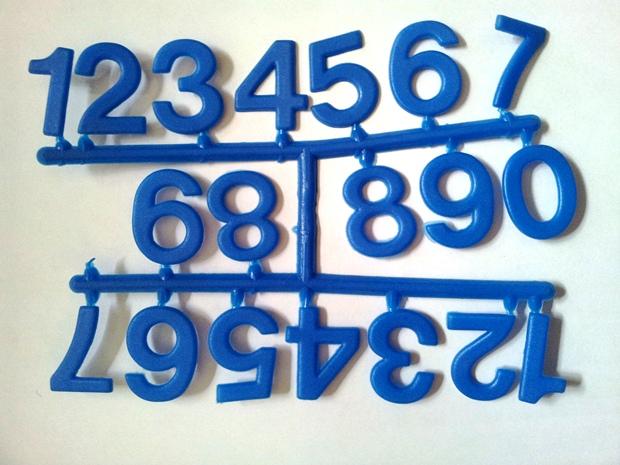 اعداد انگلیسی پلاستیکی