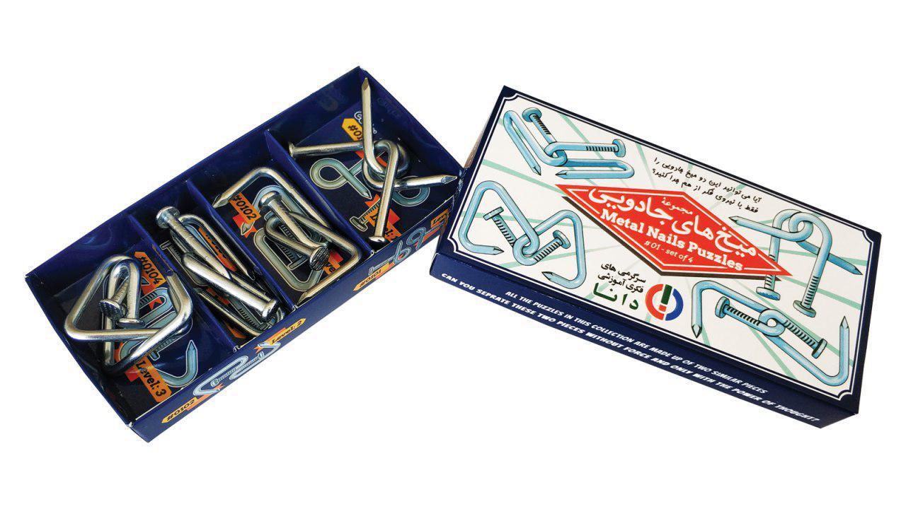 معمای میخ های جادوئی(بسته بندی جعبه مقوائی)-کارتن مادر۲۴جعبه
