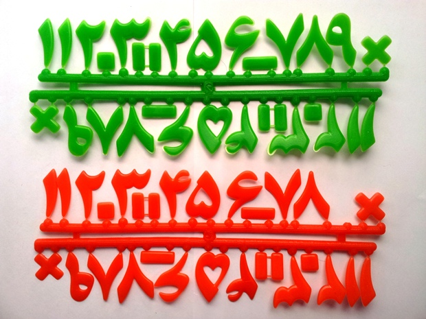اعداد فارسی (پلاستیکی)