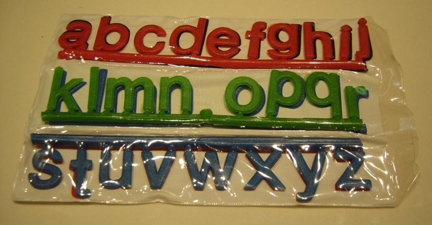 حروف کوچک انگلیسی پلاستیکی