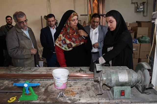 تشریخ نحوه ساخت اسباب بازی فکری با خم مفتول برای فاطمه فکوریان با حضور محمد علی رئیس دانا