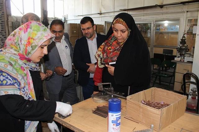بازدید از ساخت بازی فکری معمای گره های فلزی توسط فاطمه فکوریان و محمد علی رئیس دانا